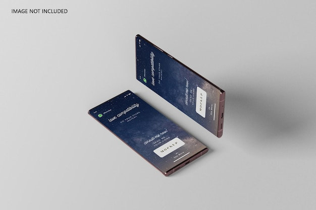 Maquete de ultra smartphone