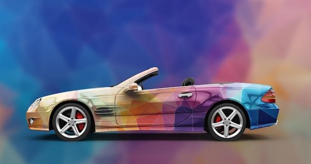 Maquete de um carro urbano de luxo genérico