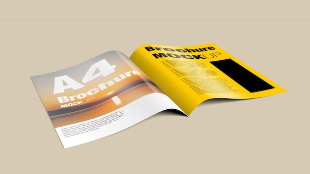 Maquete de uma revista aberta