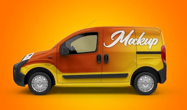 Maquete de uma van genérica da cidade