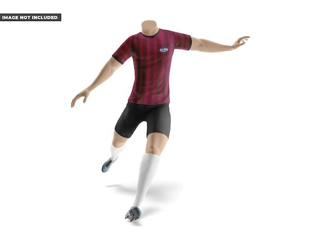 Maquete de uniforme de futebol
