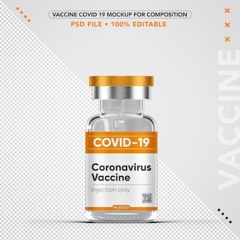 Maquete de vacina de coronavírus