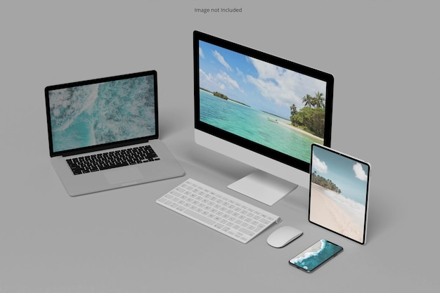 Maquete de vários dispositivos