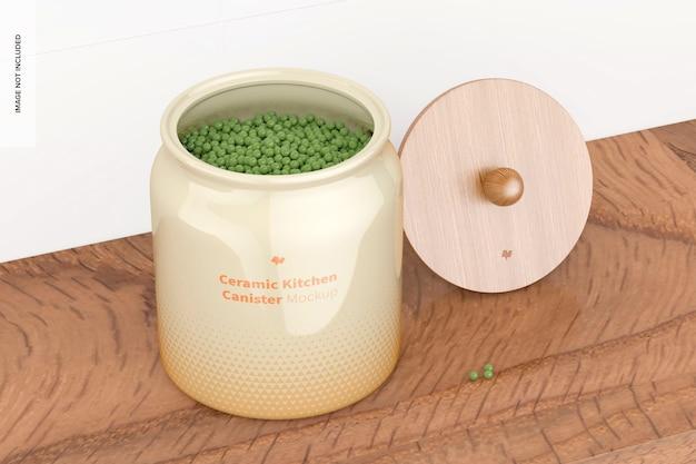 Maquete de vasilha de cozinha de cerâmica, perspectiva