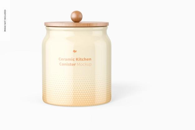 Maquete de vasilha de cozinha de cerâmica