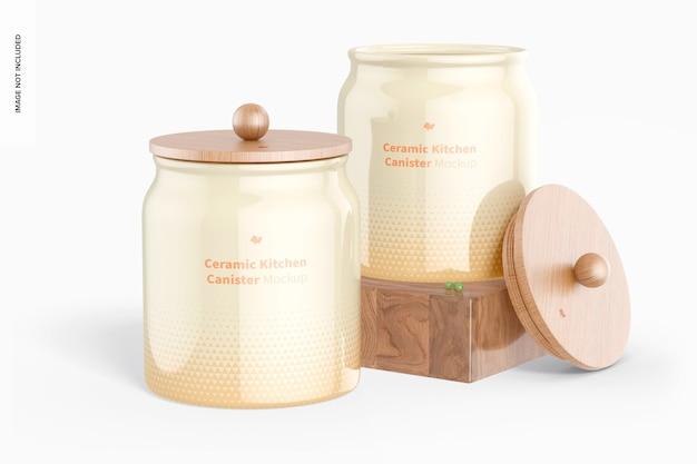 Maquete de vasilhas de cerâmica para cozinha