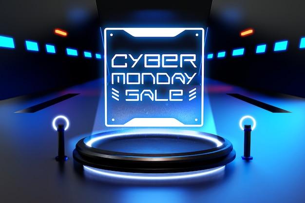 Maquete de venda da cyber segunda-feira