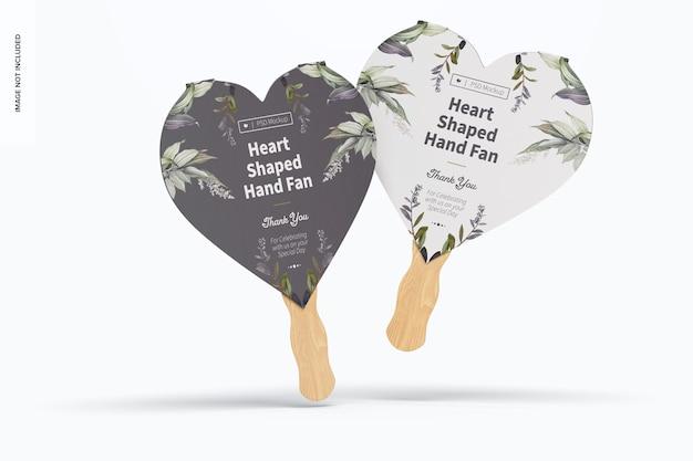 Maquete de ventiladores em forma de coração, flutuante