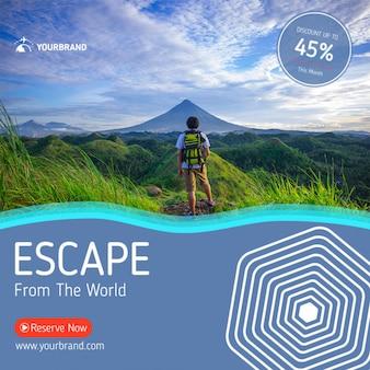 Maquete de viagens e turismo