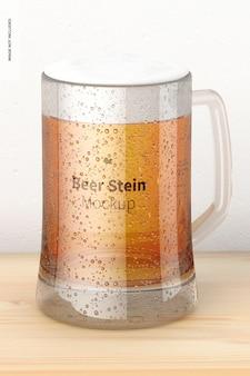 Maquete de vidro de cerveja stein, perspectiva