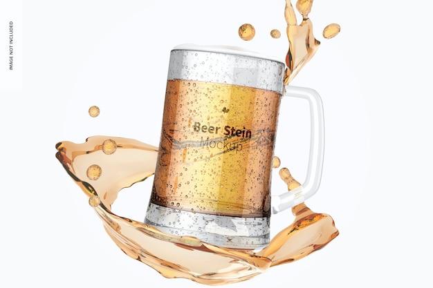 Maquete de vidro de cerveja stein