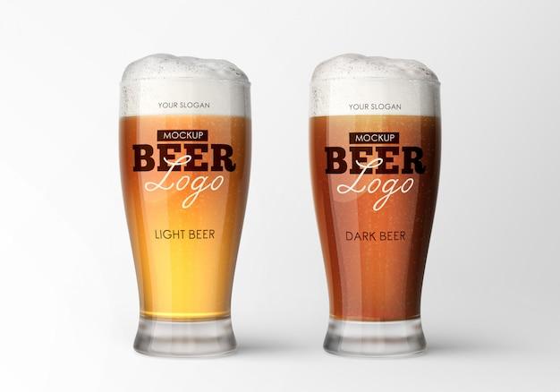 Maquete de vidro de cerveja