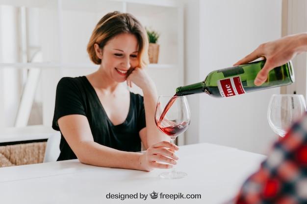 Maquete de vinho
