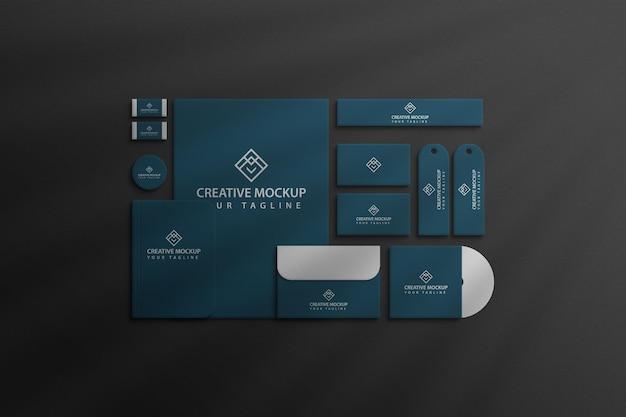 Maquete de visão corporativa da marca de papelaria premium