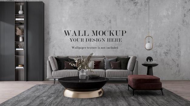 Maquete de visualização 3d para suas texturas de parede