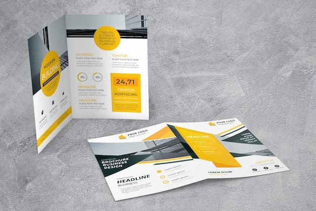 Maquete de vitrine de brochura