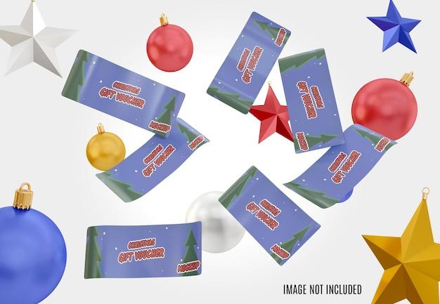 Maquete de voucher de natal