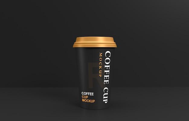 Maquete de xícara de café com suporte de produto
