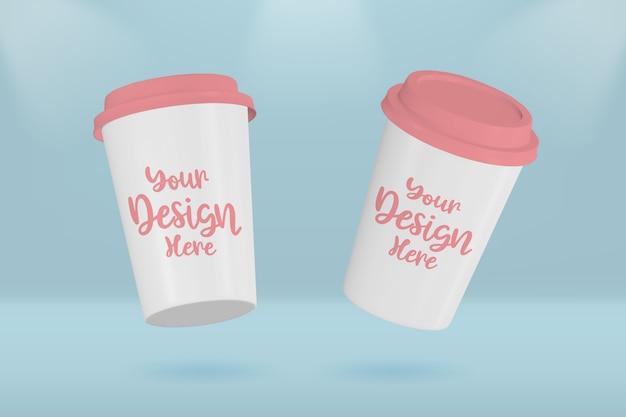 Maquete de xícara de café de papel para viagem