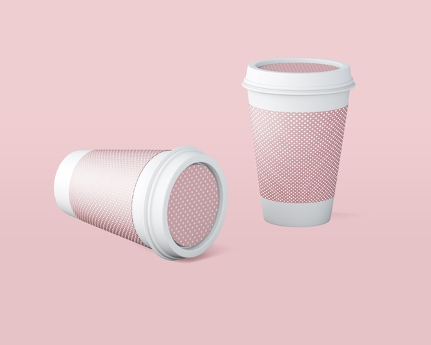 Maquete de xícara de café de papel