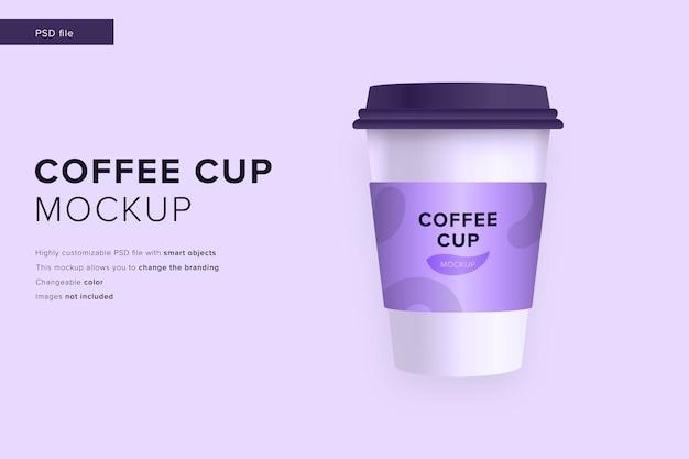 Maquete de xícara de café em maquete de estilo de design moderno