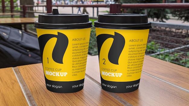 Maquete de xícara de café fosco