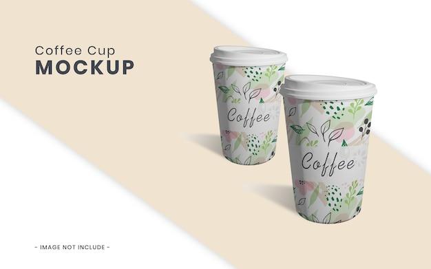 Maquete de xícara de café isolada
