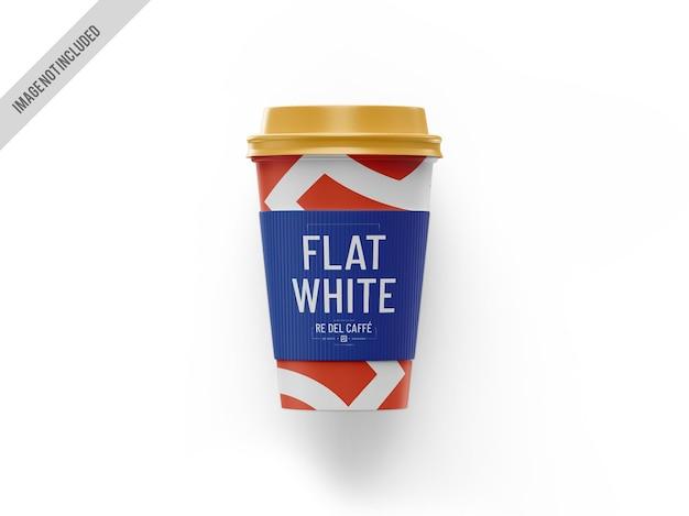 Maquete de xícara de café para viagem