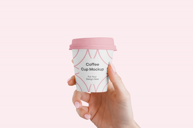 Maquete de xícara de café pequena
