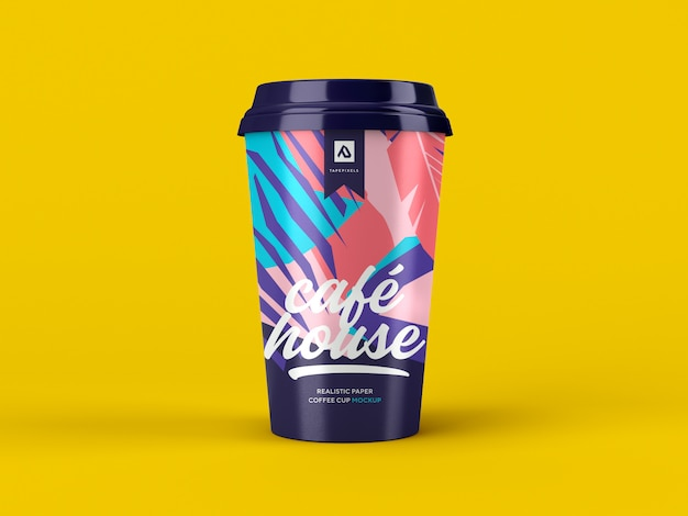 Maquete de xícara de café. recipiente para café para viagem Psd Premium