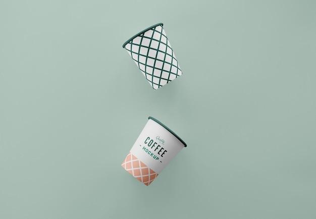Maquete de xícara de café simples
