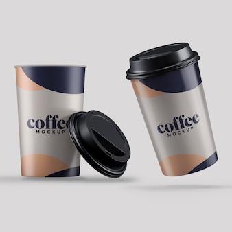 Maquete de xícara de café