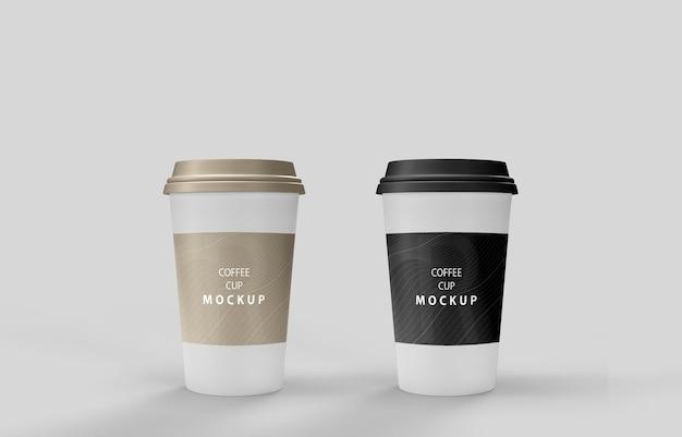 Maquete de xícaras de café com suporte de produto