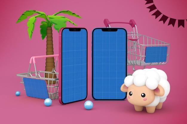 Maquete do aplicativo adha shopping