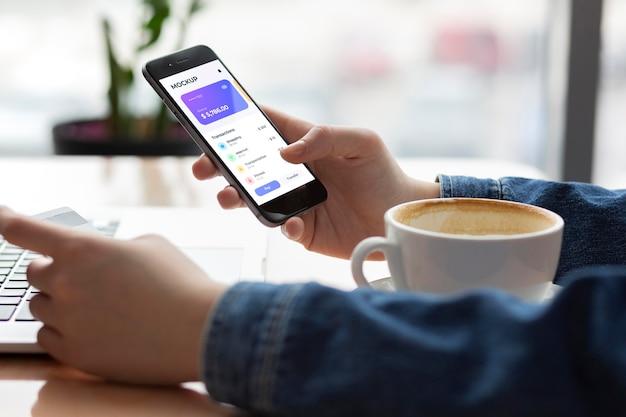 Maquete do aplicativo de pagamento móvel