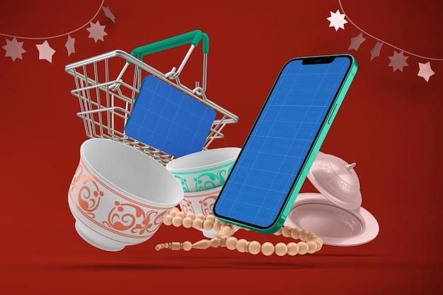 Maquete do aplicativo eid shopping