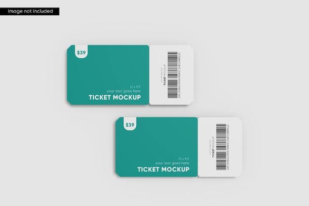 Maquete do bilhete da esquina redonda