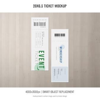 Maquete do bilhete