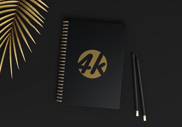Maquete do caderno espiral a5