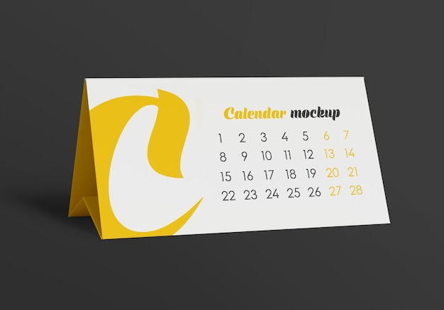 Maquete do calendário da barraca de mesa