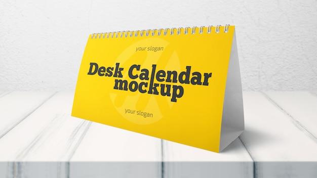 Maquete do calendário de mesa