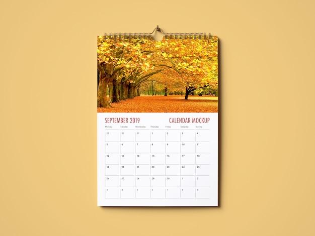 Maquete do calendário