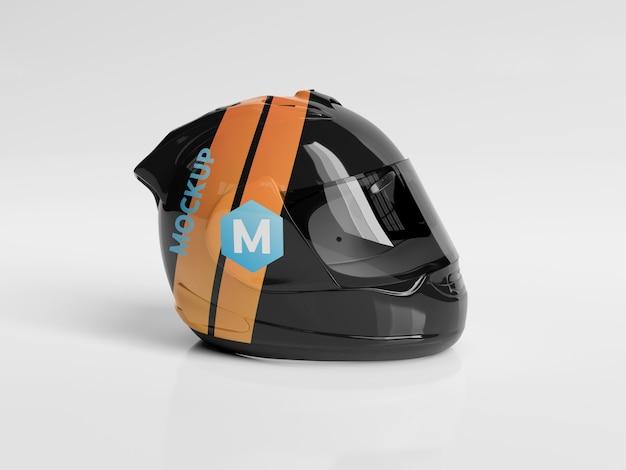 Maquete do capacete da motocicleta