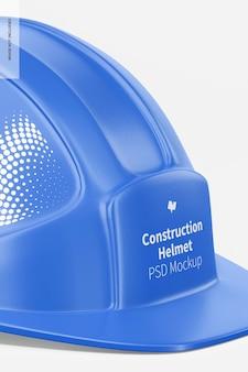 Maquete do capacete de construção, close-up