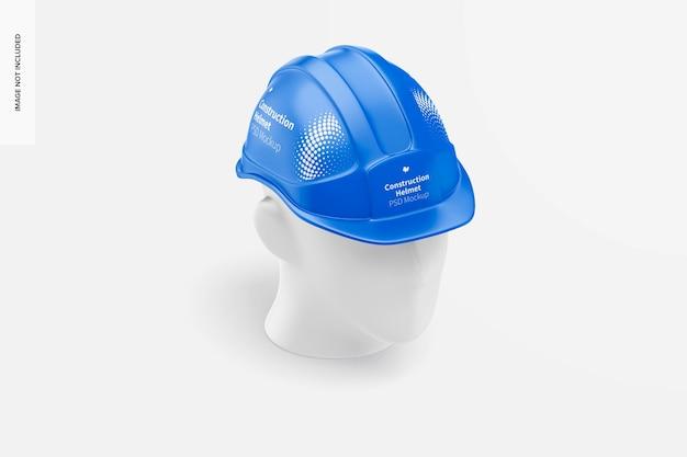 Maquete do capacete de construção, vista isométrica
