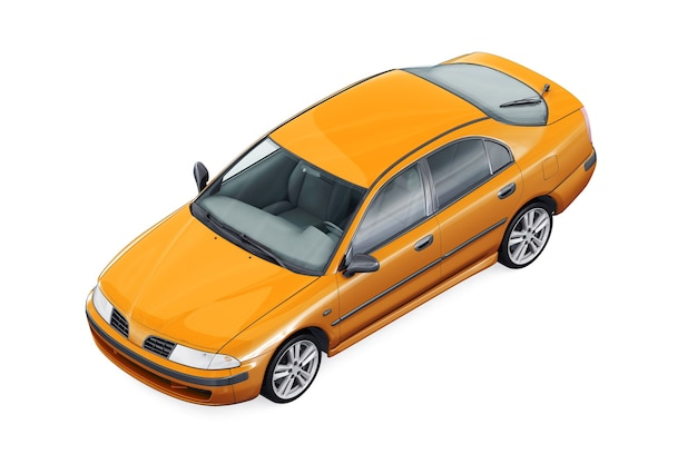 Maquete do carro 2000 hatchback