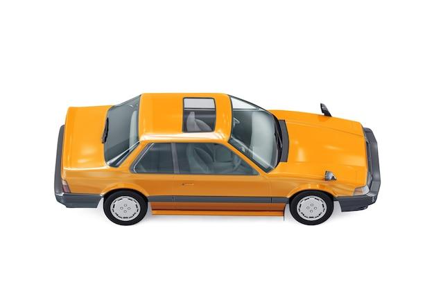 Maquete do carro cupê retrô de 1983