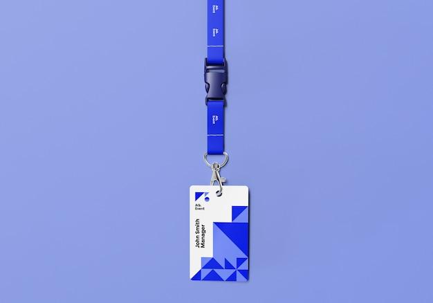 Maquete do cartão de identificação