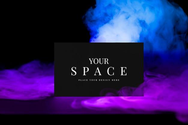 Maquete do cartão de visita psd, fumaça estética com espaço de design