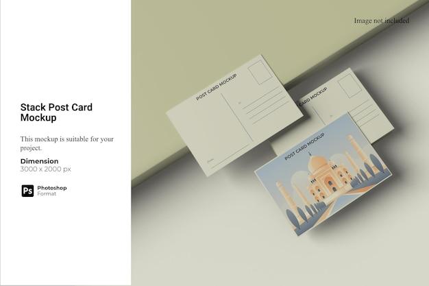 Maquete do cartão-postal da pilha